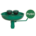Eyeshower with bowl wall mount