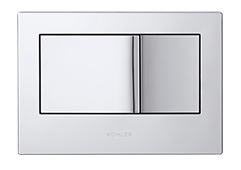 Kohler flush plate, polished chrome (1)